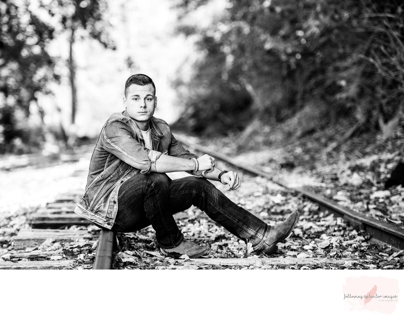 Abandoned Railroad Tracks Senior Photography
