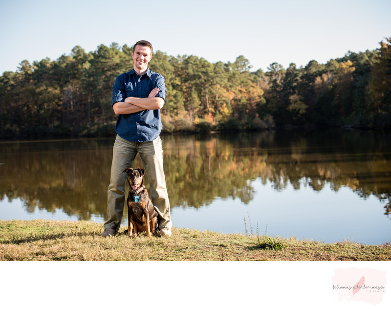 Senior Portrait with Dog Little Rock Portrait Photographer