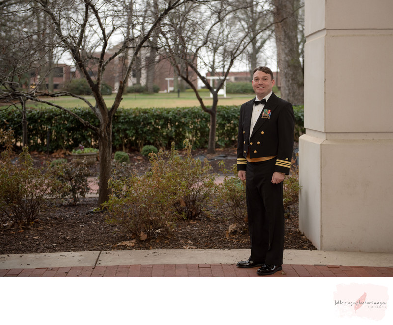 Best Harding University Wedding Grooms Portrait