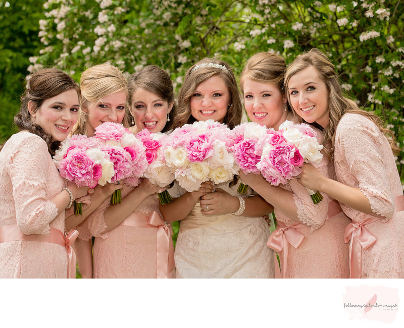 Little Rock, Arkansas Pink Wedding Photography