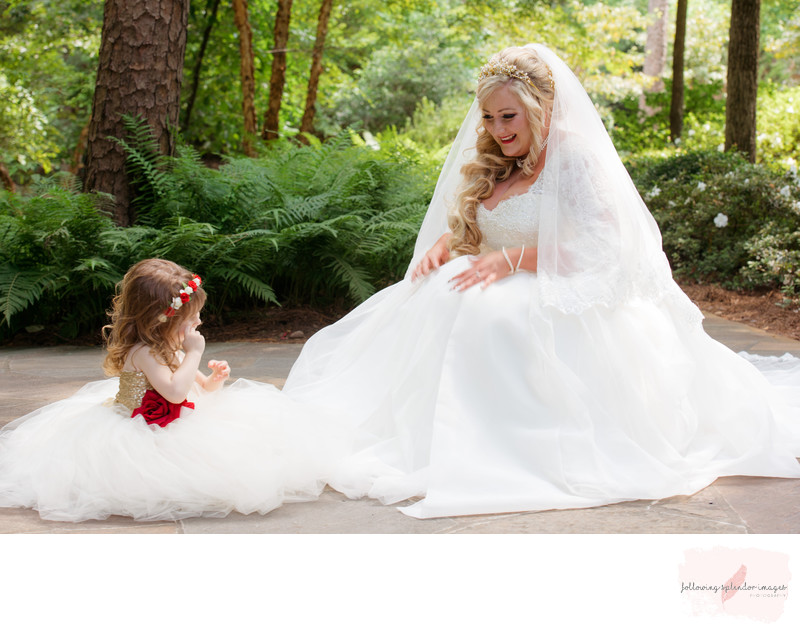 Garvan Woodland Gardens Bride And Flower Girl