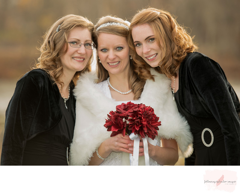 Sisters Bridal Portrait In The Park