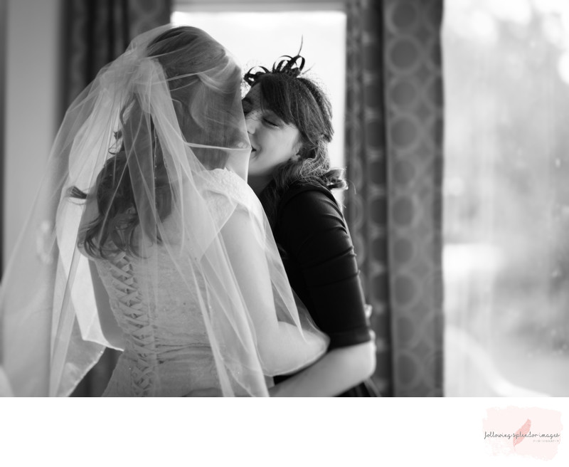 Candid Sister and Bride Moment