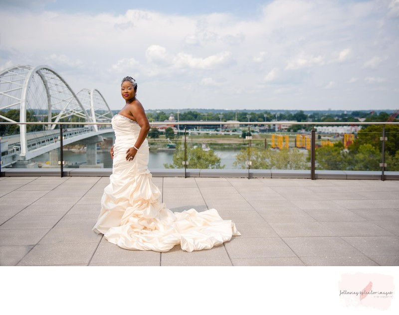 Broadway Bridge Rooftop Wedding Robinson Center