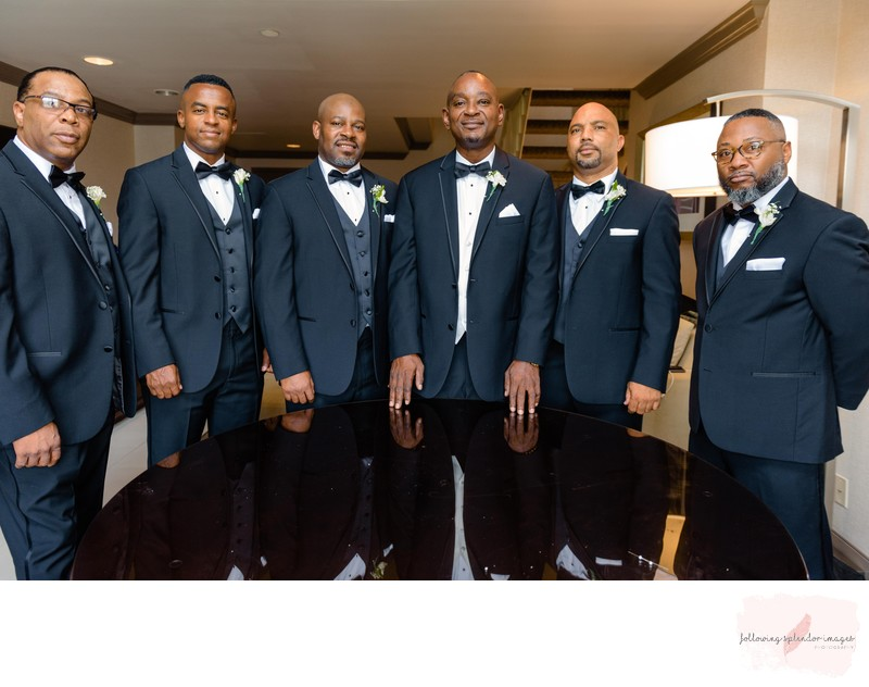 Groomsmen Getting Ready At The Double Tree Hotel