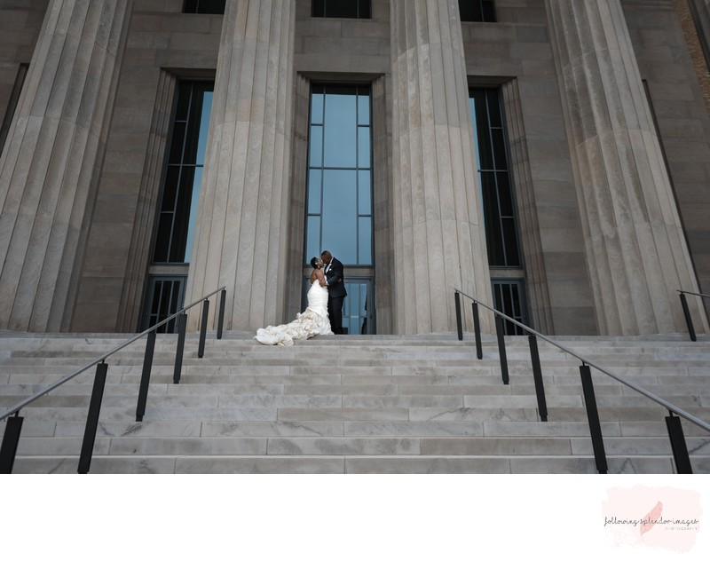 Robinson Center Wedding Photographer Bride and Groom