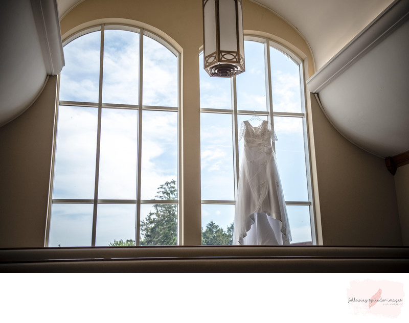 Wedding Dress and Beautiful Windows