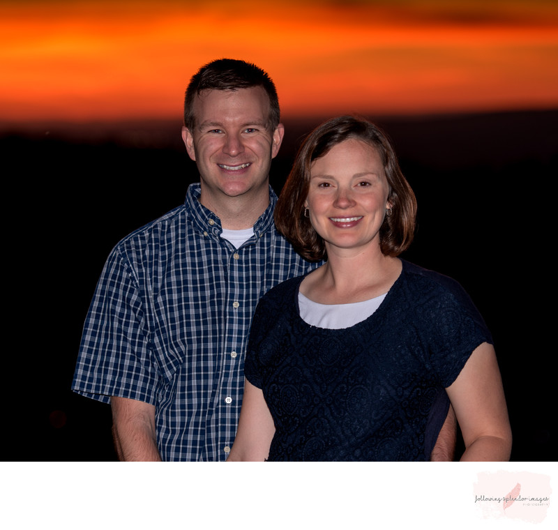 Off Camera Flash Couple Portrait at Sunset