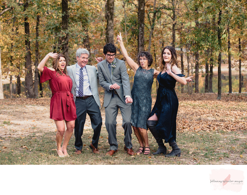 Fun Family Portrait of Favorite Wedding Dance Move