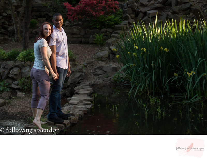 Best Engagement photos at the Old Mill in North Little Rock