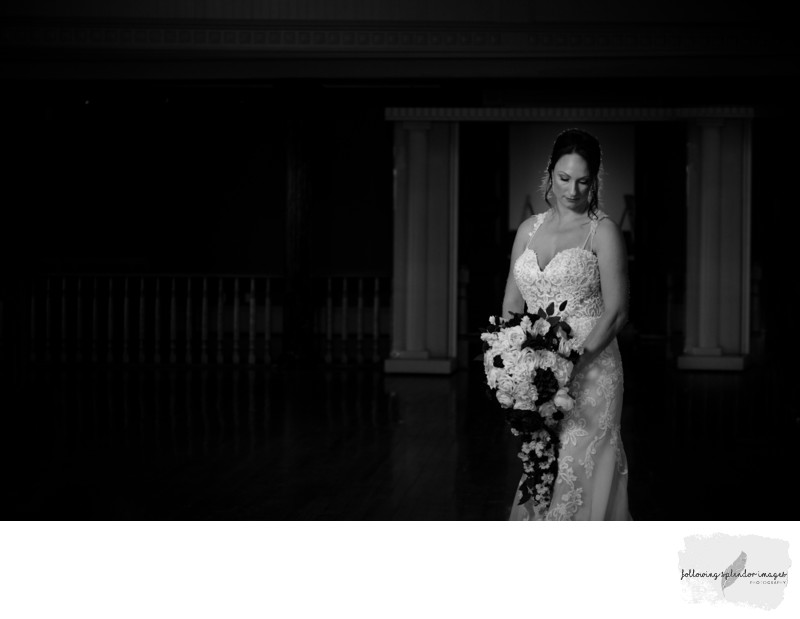 Black and White Bridal Photo