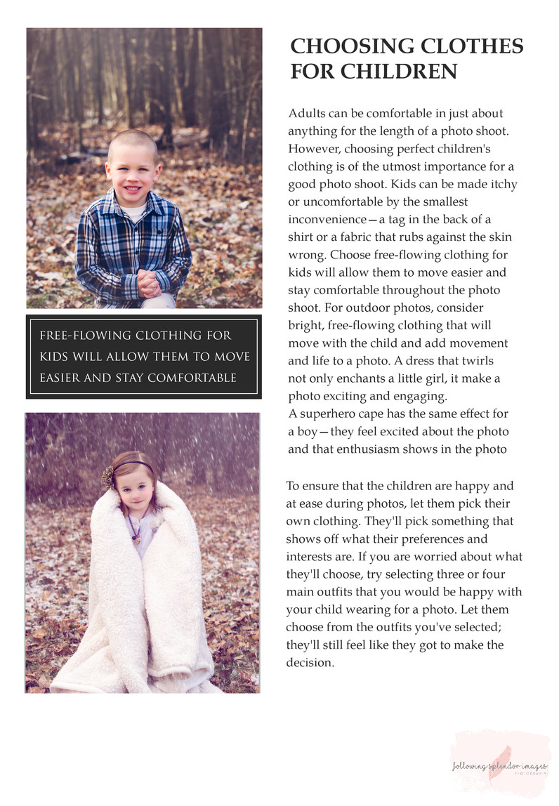What To Wear Guide Children Page