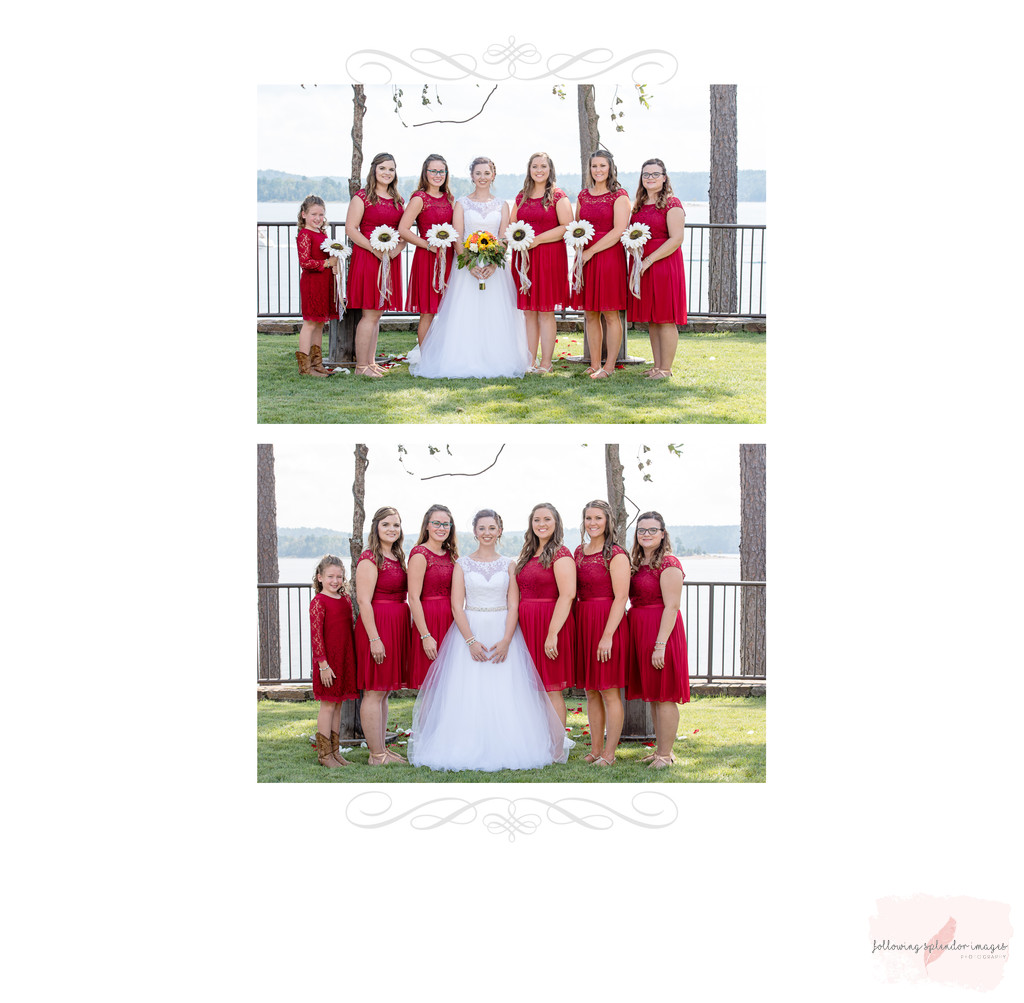 Bride And Her Bridesmaids Wedding Lake Degray Resort