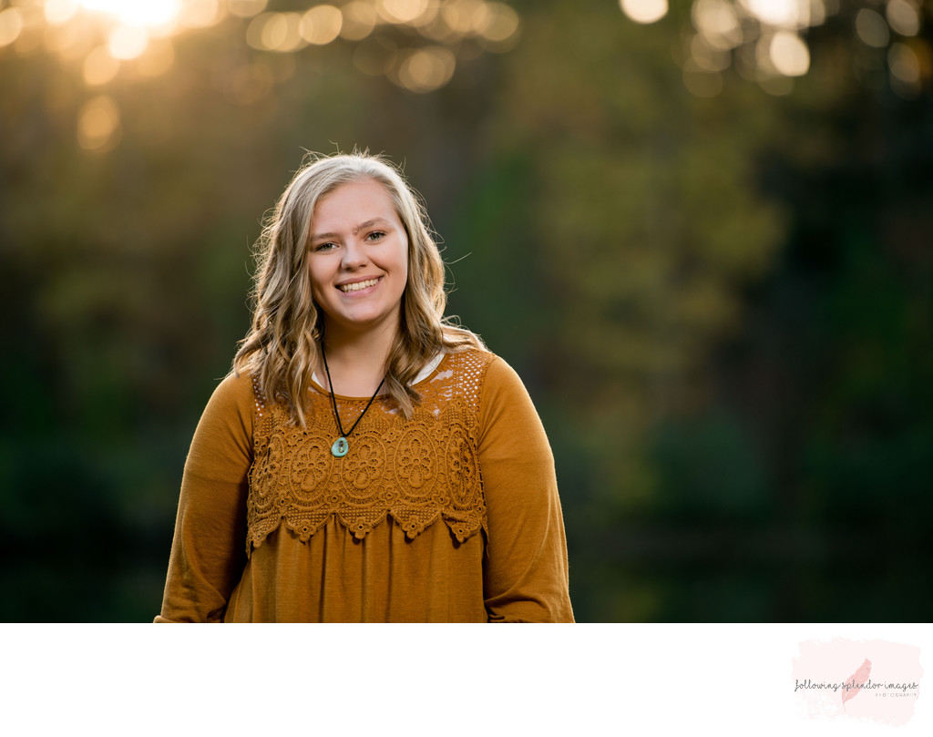 Senior Girl Fall Session in Little Rock, Arkansas