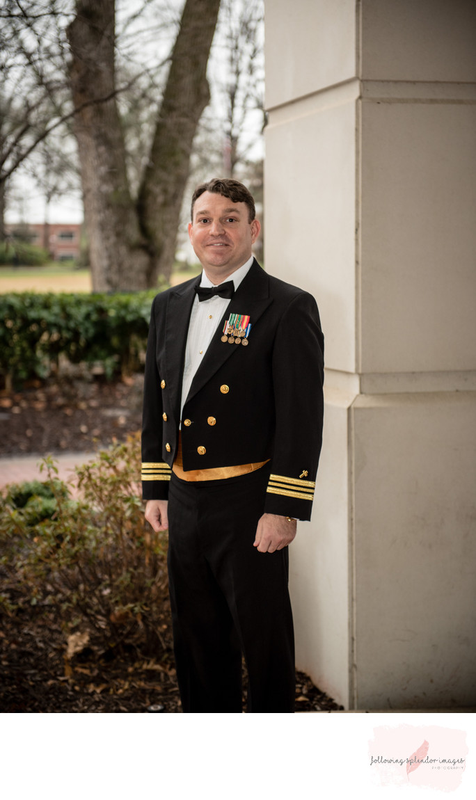 Naval Officer Harding University Wedding
