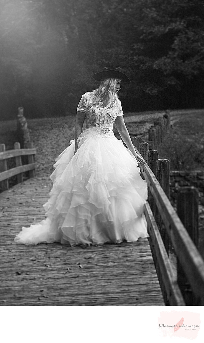 Cowboy Bride in Little Rock Arkansas