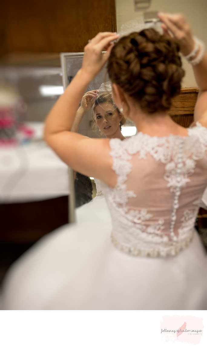 Lake DeGray Resort Lodge Wedding Getting Ready Photo