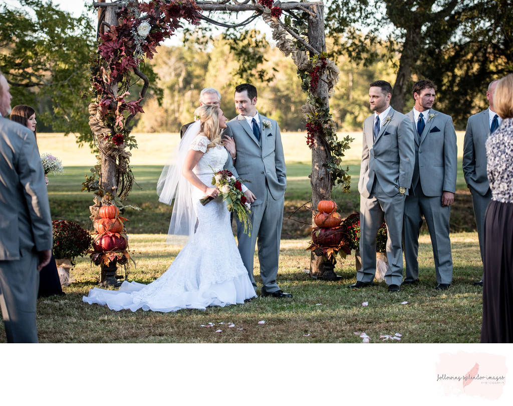 Carter Farm Wedding Ceremony Benton Arkansas