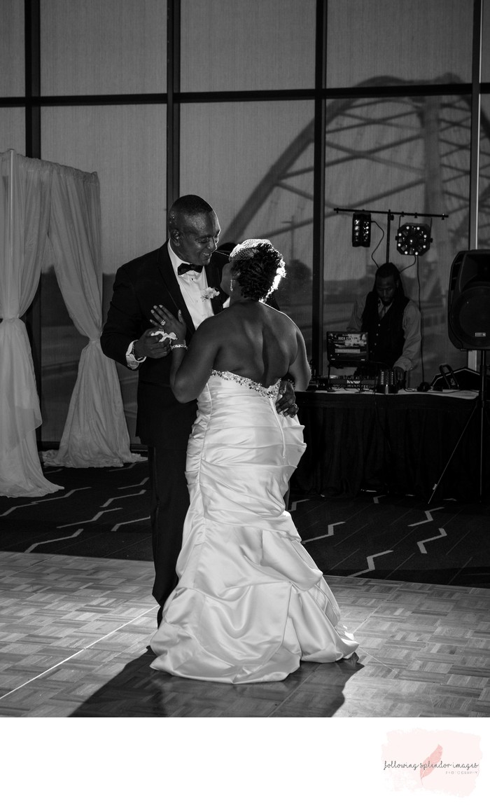 First Dance Robinson Center Ballroom Wedding