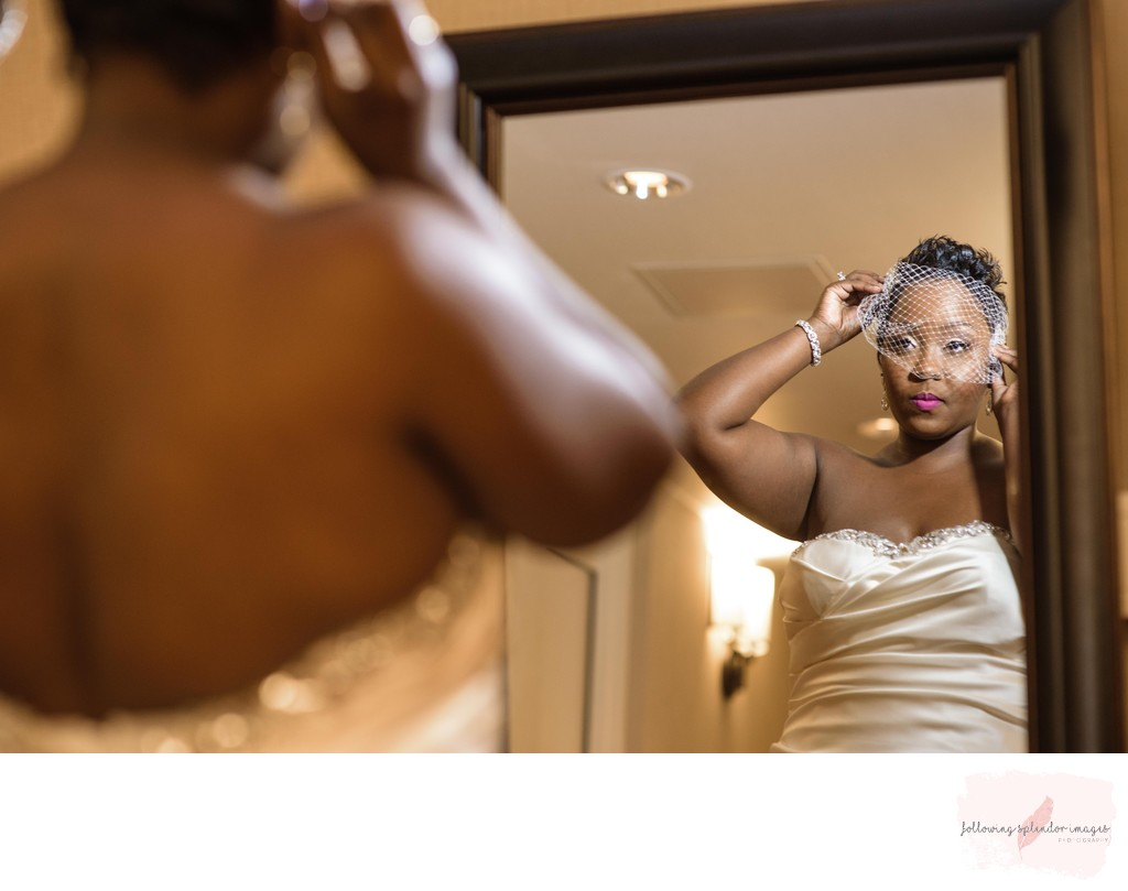 Bride Getting Ready at Robinson Center in Little Rock