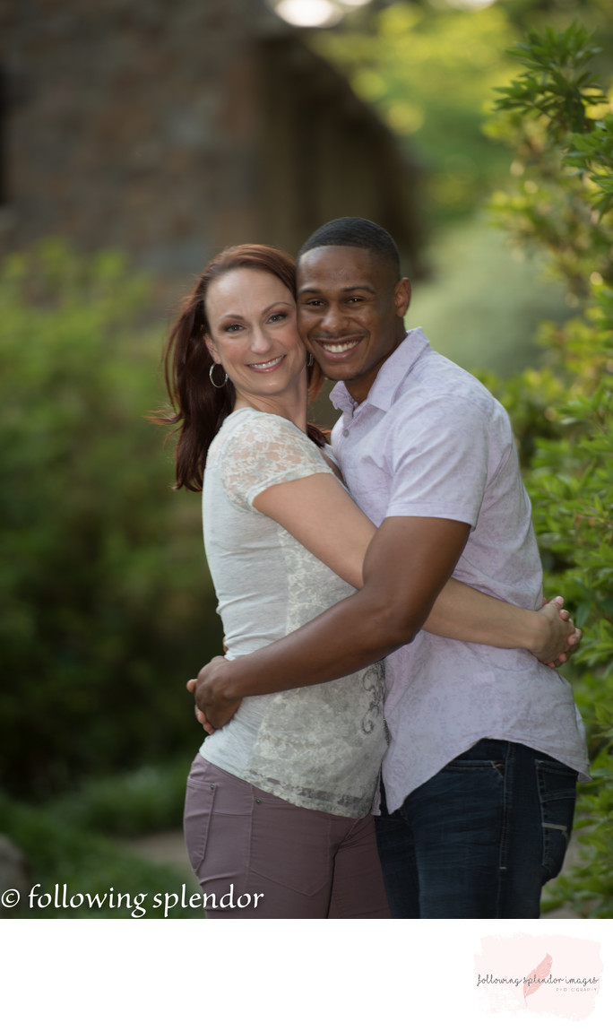 Inter-racial couple engagement photos little rock, arkansas