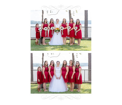 Bride And Her Bridesmaids Wedding Album Page