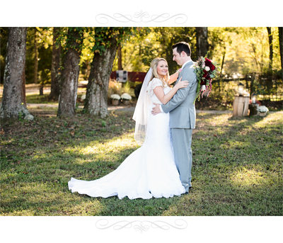 Bride and Groom Portrait at Carter Farm, Benton Arkansas