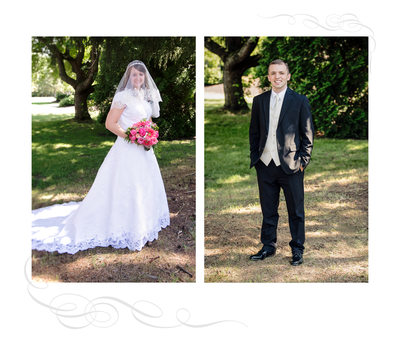 Bride and Groom Album Page