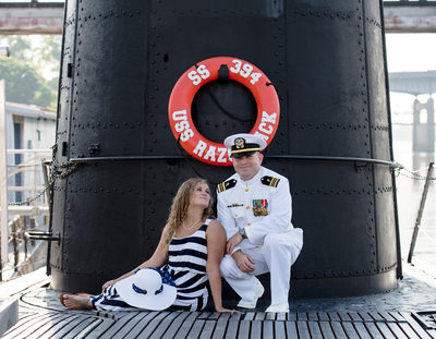 USS Razorback Submarine Engagement Session