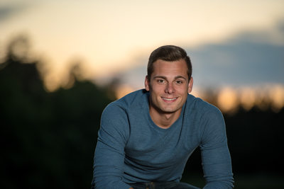 Senior Guy Sunset Portrait
