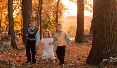 Beautiful Golden Hour Children's Portrait