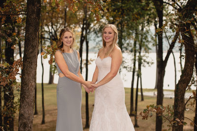 Sister Portrait at the Park on the River Wedding