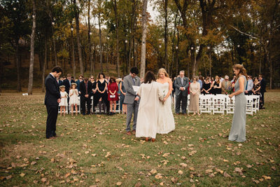 Fall Park On The River Wedding Ceremony