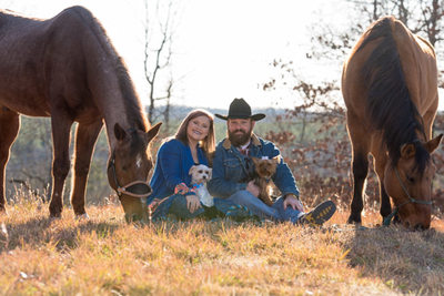 Couple Photography with Horses and Dogs