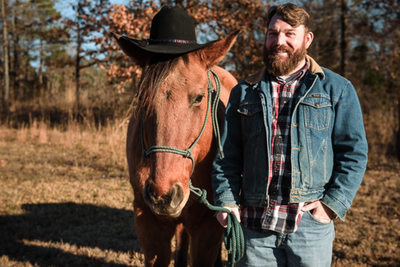 A Man and His Horse Arkansas Portrait Photography