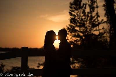 Sunset Engagement Photo Little Rock, The Park on the River
