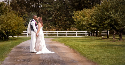 Lace Wedding Gown and White Lace Jacket Tux