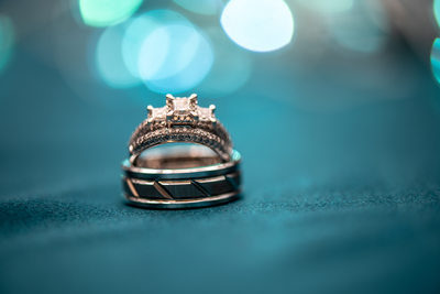 Creative wedding rings shots