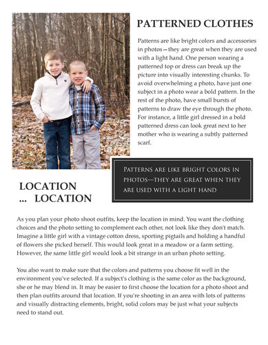 What to Wear For Children Photography
