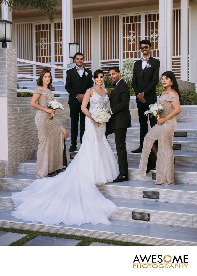Bridal party in Trinidad
