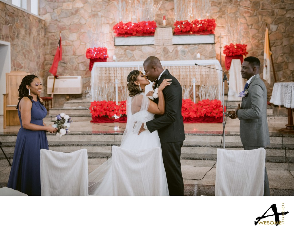 Church of Assumption Wedding, Maraval