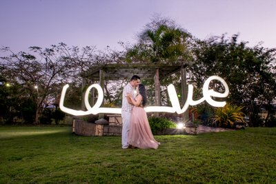 Engagement shoot, Light Painting
