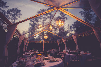 This tent was added to the side for overflow on the wed