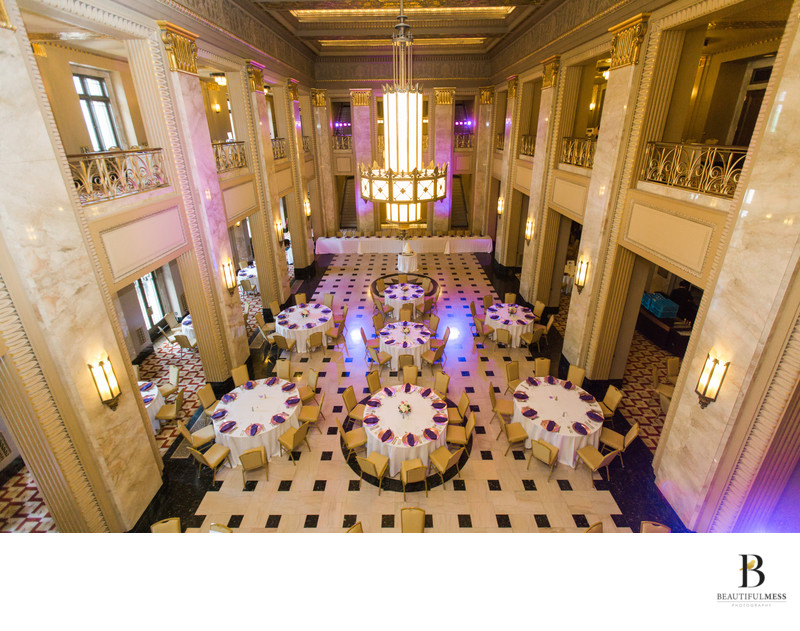 Wedding reception Grand Lobby Peabody Opera House