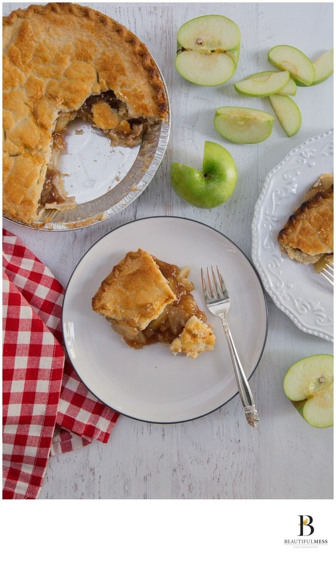 Apple pie shoot gingham's restaurant