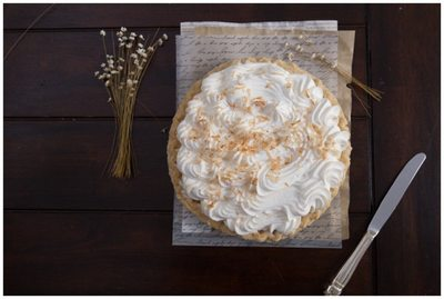 Coconut cream pie food photography St. Louis MO