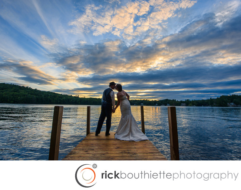 SUNSET ROMANCE - LAKE WINNIPESAUKEE WEDDING