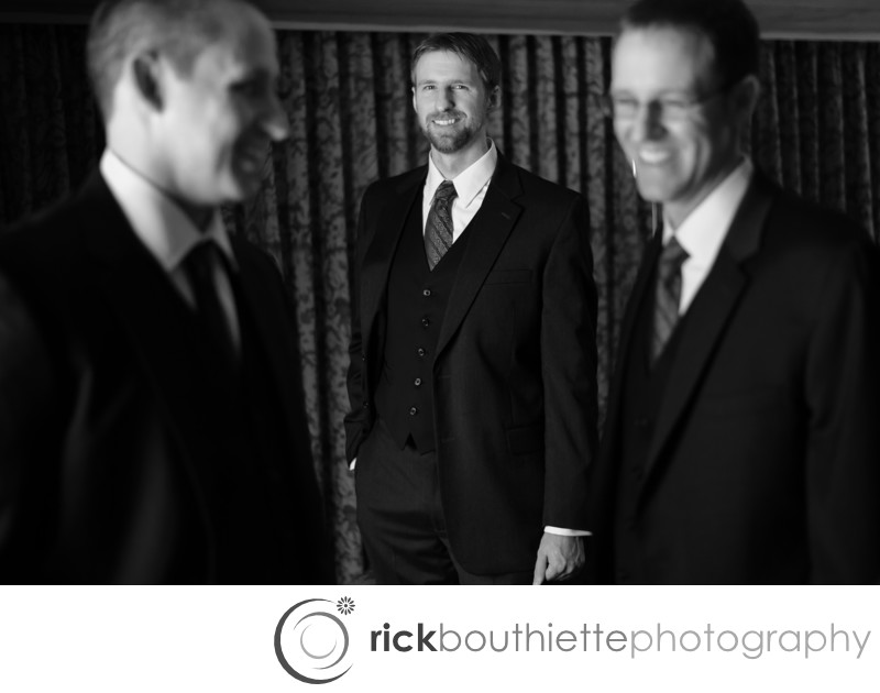 GROOM AND GROOMSMEN - CHURCH LANDING WEDDING
