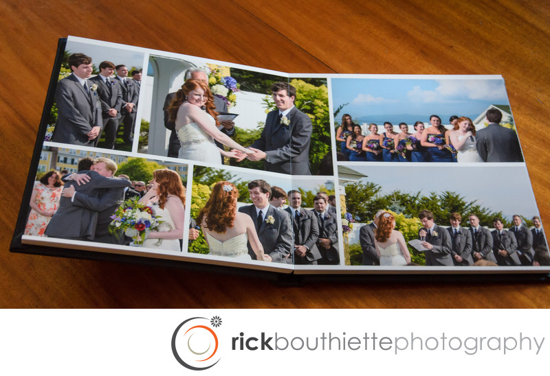 Custom Flush Mount Wedding Album Ceremony Spread