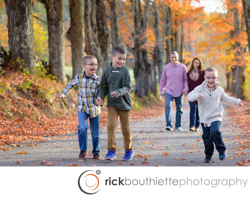 Modern Family Portraits In The Fall